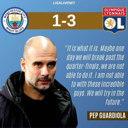 Guardiola after ManCity out