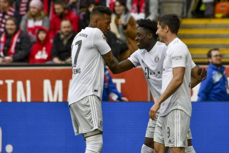 Jerome Boateng praises teammate Alphonso Davies after his splendid performance against Barcelona in UCL quarter-final.