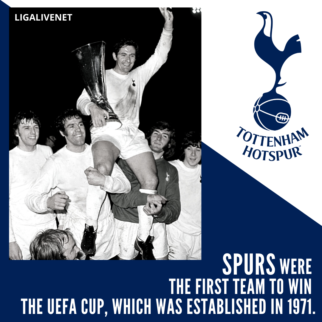 Spurs were the first team to win the UEFA Cup in 1971.
