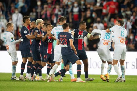 Florian Thauvin scored the winner as Marseille beat defending champions Paris Saint-Germain by 1-0 and climb 5th in the table.