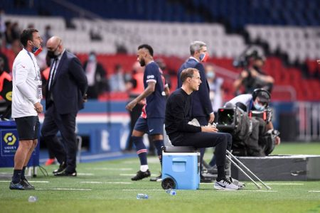 PSG coach Thomas Tuchel says he did not hear anything following Neymar Jr.'s claim of racial comments by Marseille defender.