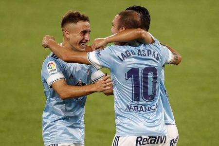Iago Aspas scored twice as Celta Vigo beat Valencia by 2-1 and secure the second position in LaLiga standings.