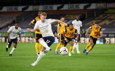 Kevin de Bruyne Wolverhampton Wanderers Manchester City 1:3