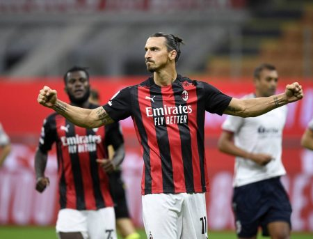 Zlatan Ibrahimovic scored twice as AC Milan made a winning start in Serie A season with a 2-0 win against Bologna.