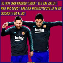 Messi verabschiedet sich von Suarez