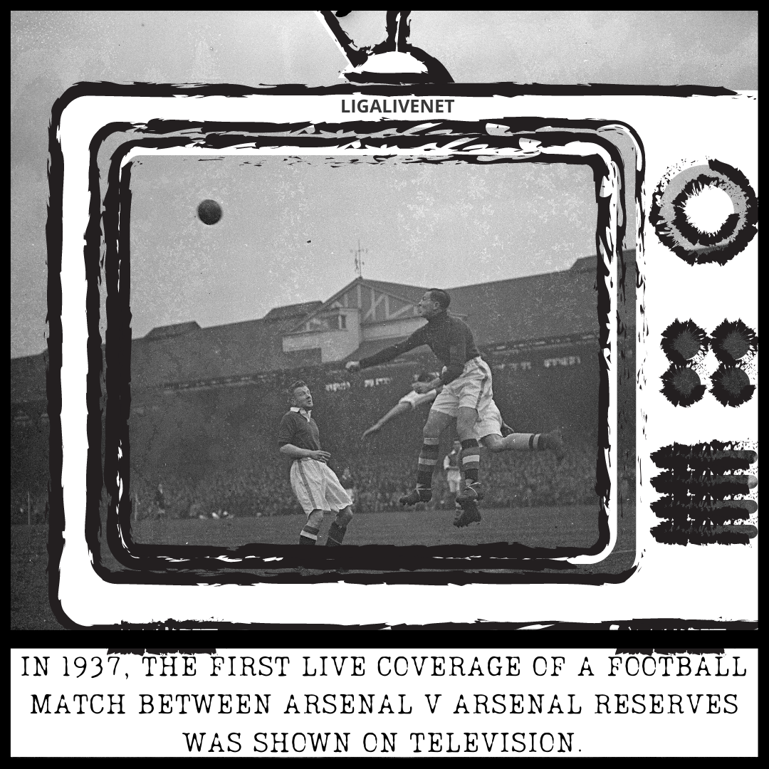 The first live coverage of a football match