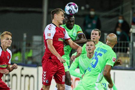 Fußball Bundesliga, 2. Spieltag, Saison 2020 / 2021, Spiel, Sonntag, SC Freiburg, VfL Wolfsburg 1:1