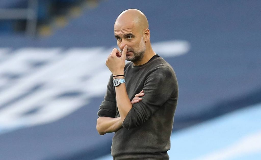 Guardiola managed two Champions League wins with Barcelona