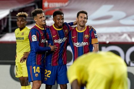 FC Barcelona started their LaLiga campaign with easy 4-0 win over Villarreal as Ansu Fati scored twice for the home side.