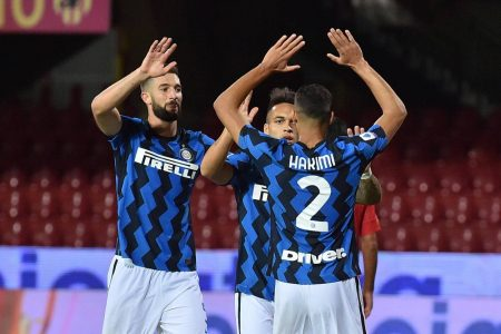 Achraf Hakimi scored his first goal for Inter Milan in a 5-2 win over Benevento. Conte's men played two and won two in this year's campaign.