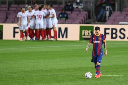 FC Barcelona failed to record third consecutive win of the season after 1-1 draw against Sevilla at Camp Nou.