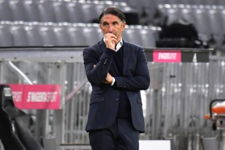 Hertha BSC coach Bruno Labbadia was deeply saddended after his team conceded an injury-time winner against Bayern Munich.