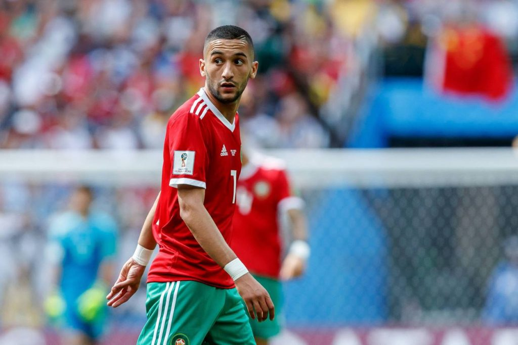 Hakim Ziyech made an assist in Morocco's 3-1 win against Senegal.