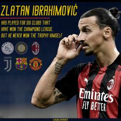 Zlatan Ibrahimovic has never actually won the CL trophy