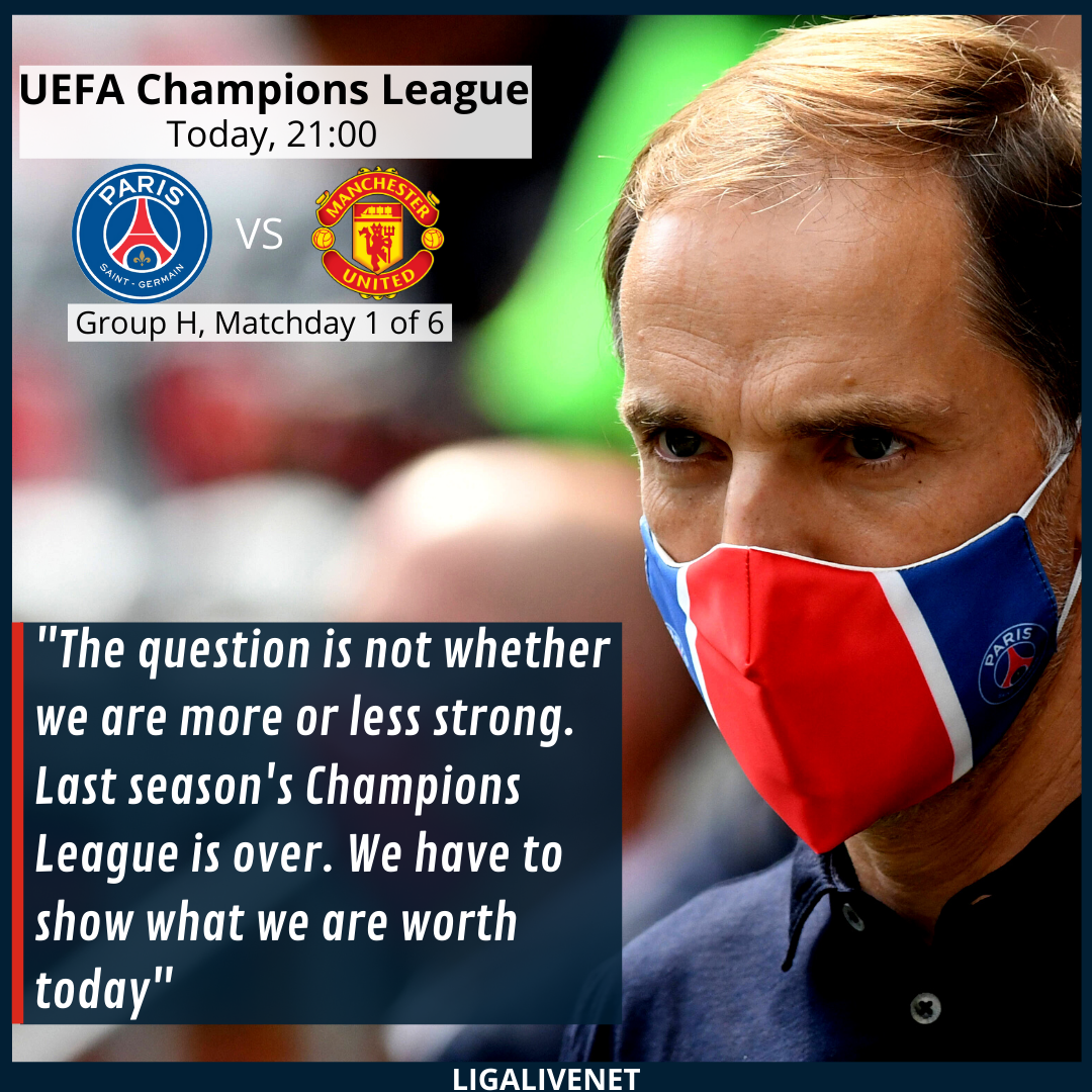 Tuchel before the match with Man. Utd