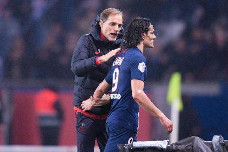 PSG head coach Thomas Tuchel praises former striker Edinson Cavani ahead of Champions League clash against Man United.
