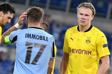 Ciro Immobile scored the opener as Lazio beat Borussia Dortmund by 3-1 in UEFA Champions League opening gameweek.