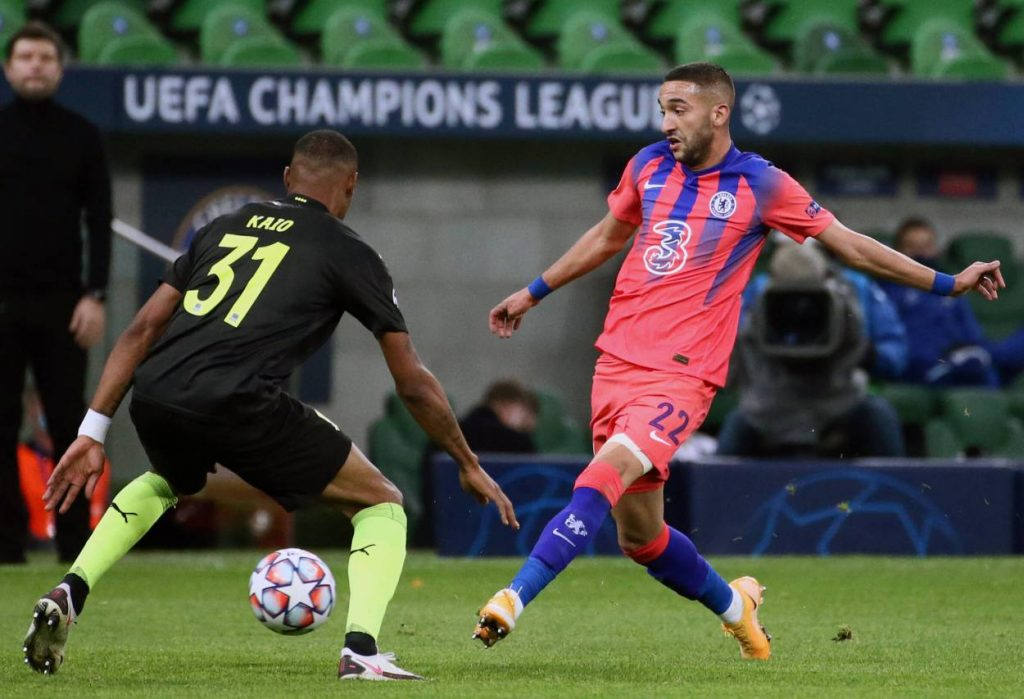 Hakim Ziyech is expected to start against Burnley