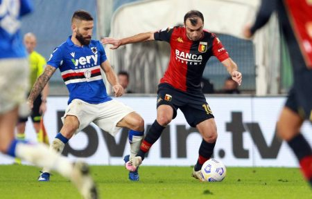 Sampdoria and Genoa scored in the first half as both teams shared a point in Serie A at Luigi Ferraris stadium.