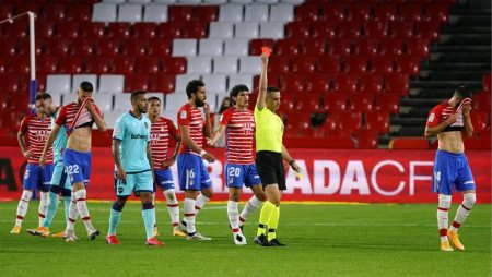 Maxime Gonalons was shown red in the first half as 10-men Granada held relegation-threatened Levante to earn a point.