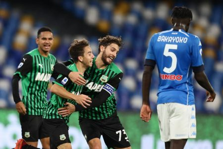 Sassuolo beat Napoli 2-0 and climb to the second spot in Serie A table. Maxime Lopez cemented all three points in stoppage time.