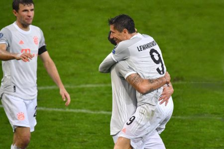 Robert Lewandowski scored twice as Bayern Munich hammer Salzburg 6-2 in UEFA Champions League at Red Bull Arena.