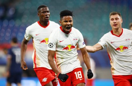 RB Leipzig came from behind and beat 9-men PSG 2-1. Bundesliga outfit are now sitting second Group H of UEFA Champions League.