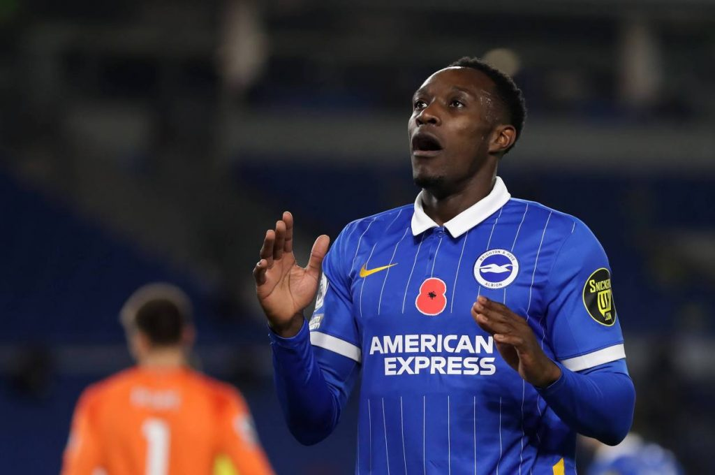Danny Welback started his first league game for Brighton