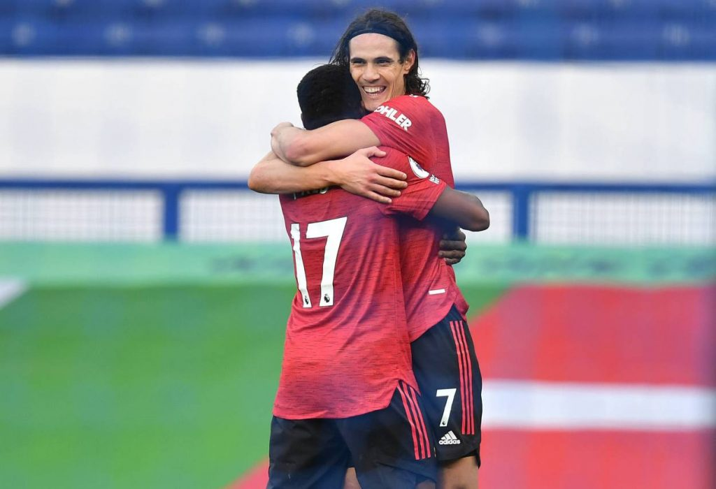 Bruno Fernandes set up Edinson Cavani for his first Man United goal