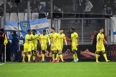 Ludovic Blas and Kader Bamba scored two late goals as Nantes beat Lorient 2-0 and climb to 14th in Ligue 1 table.