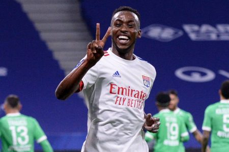 Tino Kadewere scored twice as Lyon came from behind to claim all three points against out-of-form St Etienne.