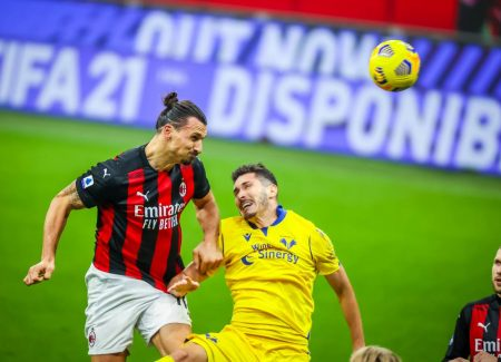 Zlatan Ibrahimovic scored a stoppage time equaliser as Serie A leaders salvaged a point against league's best defense of Hellas Verona.