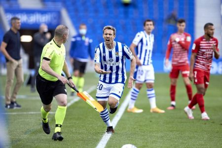 Real Sociedad are in dream land as the register the fifth consecutive win of the campaign with a 2-0 win over Granada.