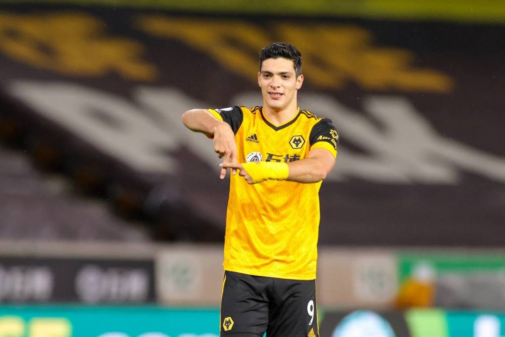 Raul Jimenez is the leading scorer for Wolves this season with four goals