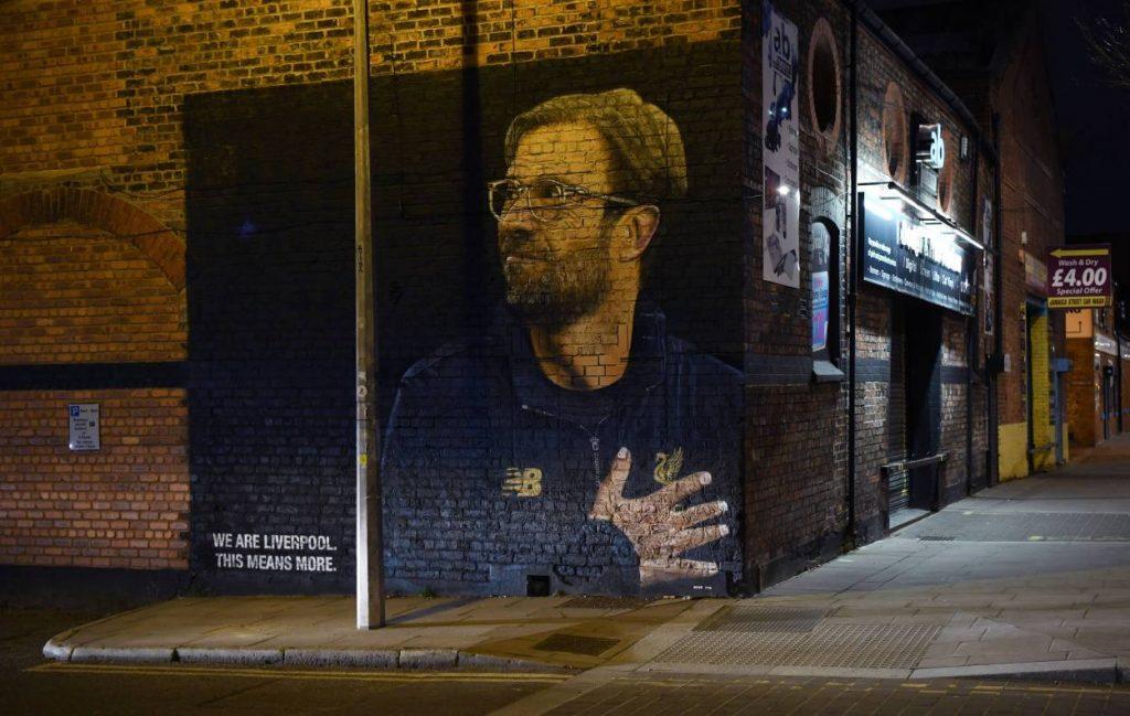 Jürgen Klopp Liverpool Hauswand