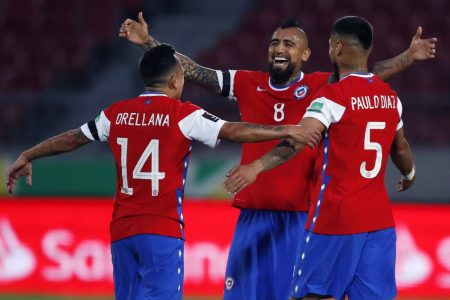 Arturo Vidal scored twice as Chile register their first win of World Cup Qualifiers with a 2-0 win over out-of-form Peru.