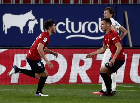 David Garcia scored the equalizer in 68th-minute as Osasuna rescued a point against out-of-form newcomers Huesca.