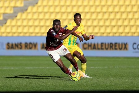 Randal Kolo on target as FC Nantes and Metz played a 1-1 draw at La Beaujoire stadium in France's Ligue 1.