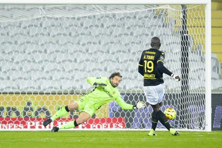 Abdoulaye Toure equalised late as Nantes salvage a point against Lens. The draw has lifted Lens to 8th place.