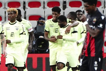 Mama Balde scored twice as bottom side Dijon recorded their first win of Ligue 1 campaign with a 3-1 win over Nimes.