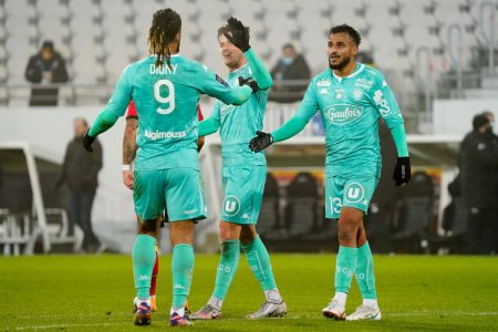 Second half goals from Stephane Bahoken and Arnaud Kalimuendo clinched all three points for Angers against Lens.