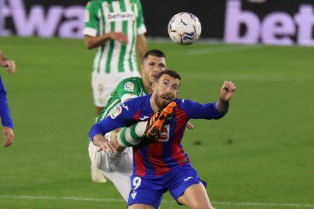 Yoshinori Muto and Esteban Burgos on target as Eibar beat struggling Real Betis 2-1 and move 12th in La Liga standings.