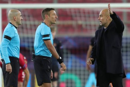 Pep Guardiola hits back at FC Porto managers' claim that Manchester City pressurize referees to get decision in their favor.