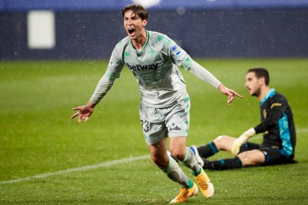 Out-of-from Real Betis return to form as they beat Osasuna 2-0 with two late goals and climb 8th in LaLiga.