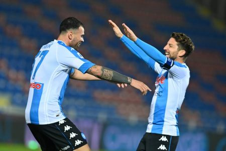 Napoli scored three second half goals as they beat Crotone by 4-0 and climb third in Serie A table with 20 points.