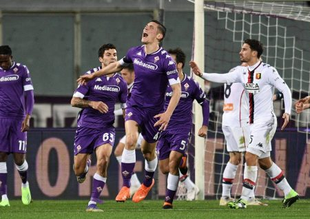 Nikola Milenkovic scored stoppage time equaliser as Fiorentina salvaged a late point against out-of-form Genoa.