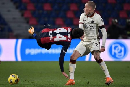 AS Roma scored five against struggling Bologna to move sixth in Serie A