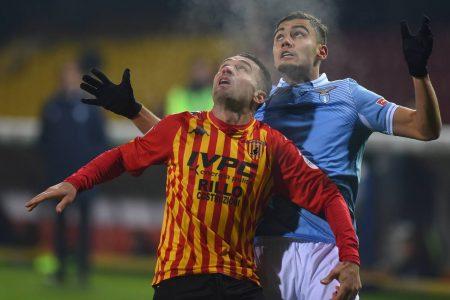 Pasquale Schiattarella scored and then sent off as Benevento rescued a point against Lazio with a 1-1 draw.