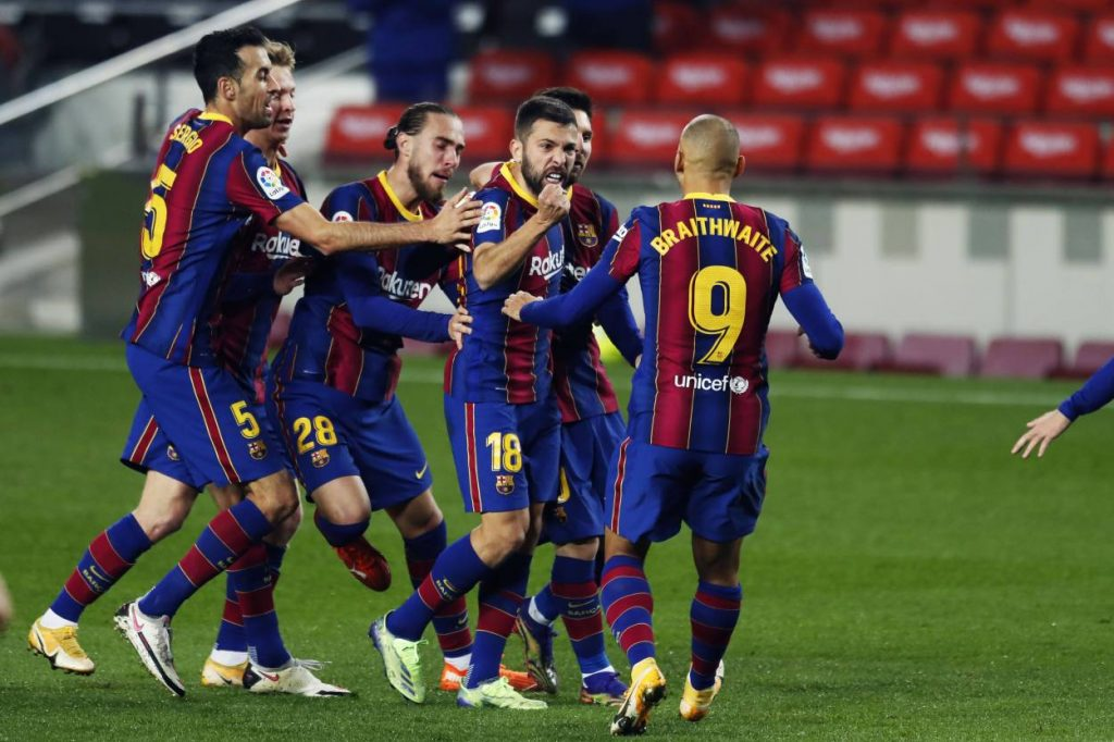 Jordi Alaba and Frenkie de Jong secured a comeback for Barcelona as Ronald Koeman's men beat Sociedad 2-1 to move fifth in the table.
