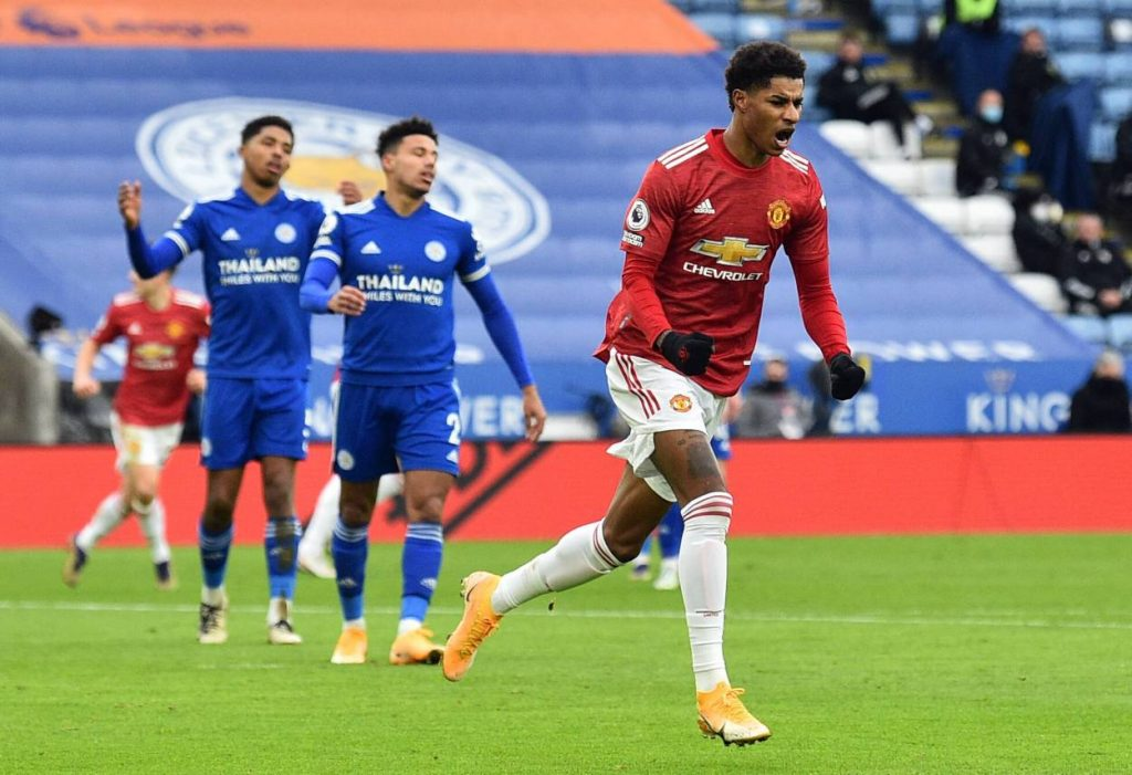 Opener against Leicester was Marcus Rashford's 50th top-flight goal